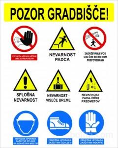 Varnost zaposlenih na gradbišču.