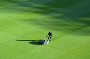 Bencinska kosilnica iskra bo za šalo pometla s previsoko travo.