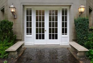 Dvokrilna vhodna vrata